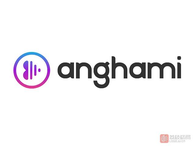 阿拉伯流媒体音乐平台Anghami新标志logo