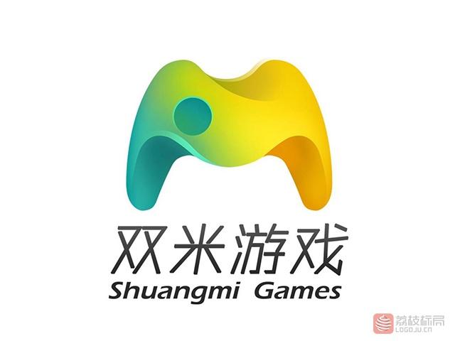 双米游戏互动标志logo