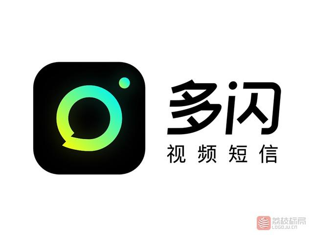 """短视频社交产品""""多闪""""APP标志logo"""