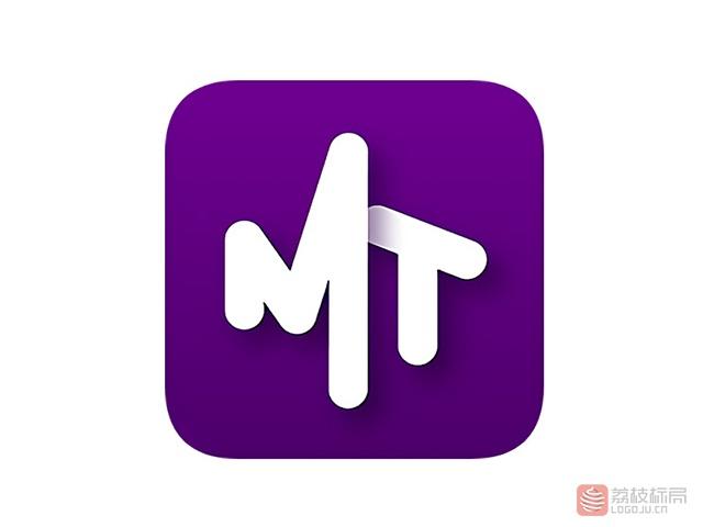 """云歌智能社交产品app""""马桶MT""""标志logo"""