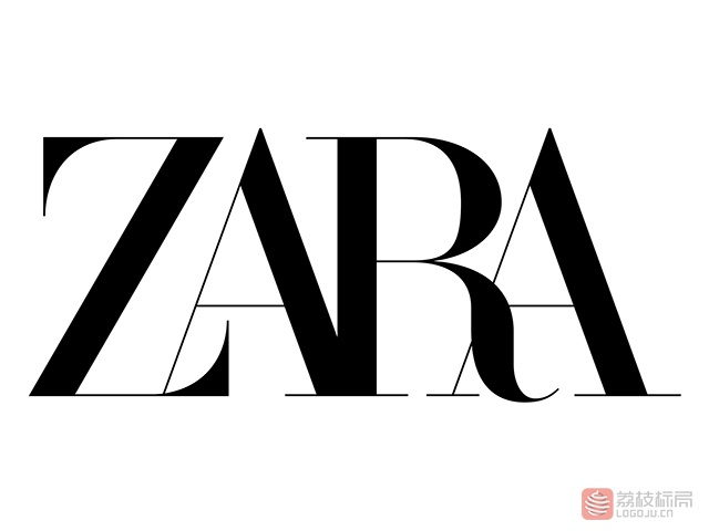 快时尚服装品牌ZARA新标志logo