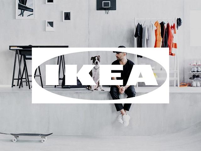 宜家IKEA推出白色动态半透明标志logo