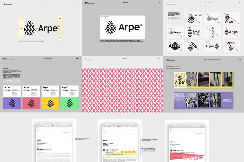 西班牙超细纤维产品定制商Arpe新标志logo