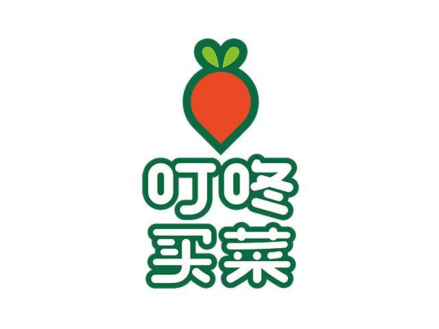 叮咚买菜生鲜到家服务新标志logo