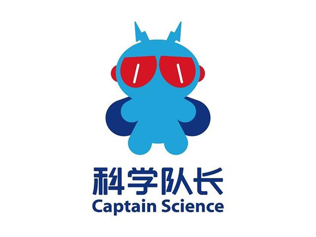 科学传播&教育平台科学队长标志logo