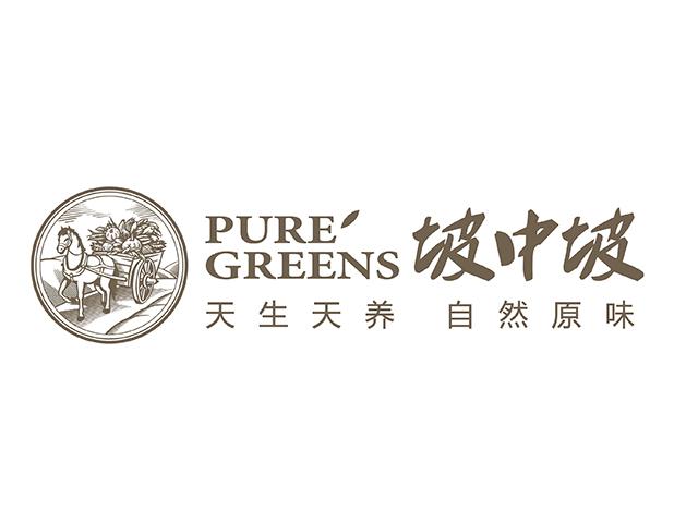 坡中坡有机食品品牌标志logo