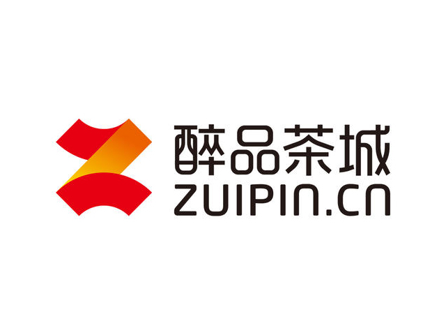 醉品茶城zuipin.cn茶叶电商平台标志logo