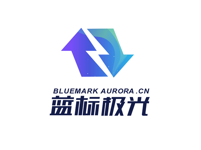 bluemark蓝标极光科技商标注册标志logo设计