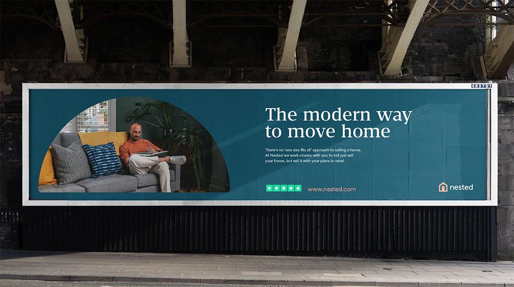 英国在线房屋交易平台Nested新标志logo
