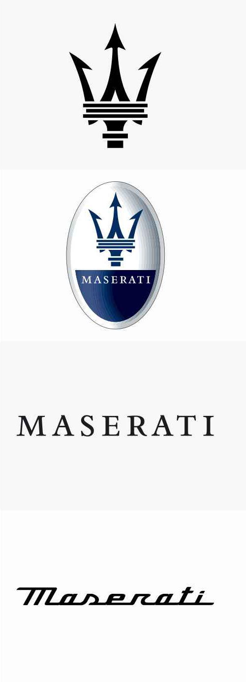 玛莎拉蒂MASERATI新品牌标志logo
