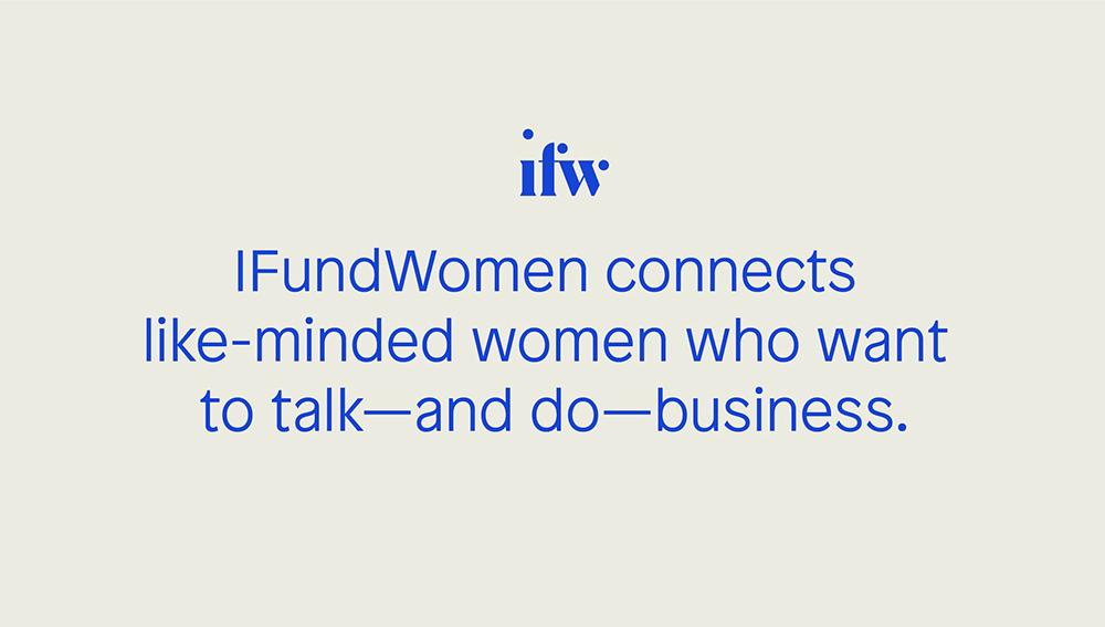 iFundWomen企服众筹平台新标志logo